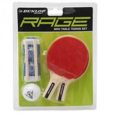 Dunlop Rage Mini Tischtennis Set mit Netzgarnitur