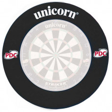 Unicorn Profi PDC Schwarz Dartscheibe Schutzring Auffangring Surround