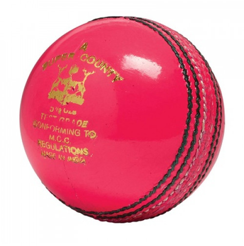 GM Super County Test Grade Kricketball Cricket Ball Pink