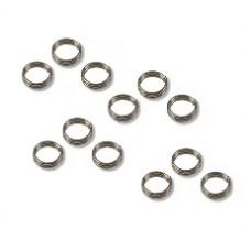 Schaftringe aus Metall für Kunststoff-Schäfte 12er