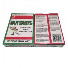 Outshots Dart Checkout Kombination Kartenspiel