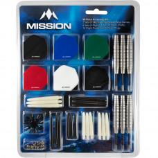 Mission Dart 90-teilig Zubehör Kit 24g Stahldartpfeile