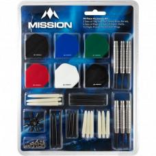 Mission Dart 90-teilig Zubehör Kit 18g Softtip Softdart Dartpfeile