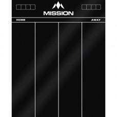 Mission Scoreboard Schreibtafel 50 x 40cm Schwarz