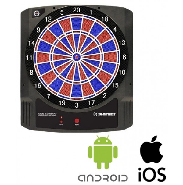 Smartness Smart Connect  App Bluetooth 2-Loch Dartscheibe Dartboard Turbo Charger