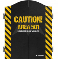 Mission Caution Area 501 Dartboard Kabinet Dartschrank Dartkasten
