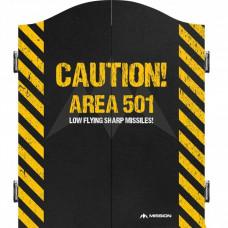 Mission Caution Area 501 Dartboard Kabinet Dartschrank Dartkasten