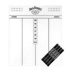 Jack Daniel's Flex Scoreboard Schreibtafel 45 x 40cm mit 4 Marker