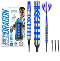Red Dragon Gerwyn Price Iceman 90% Tungsten Soft- und Stahldart Set 22g