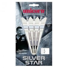 Unicorn Gary Anderson Silver Star 80% Wolfram Softtip Dartpfeile 17g