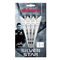 Unicorn Michael Smith Silver Star 80% Wolfram Softtip Dartpfeile 18g