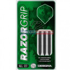 Designa Razor Grip V2 M5 90% Wolfram Stahl Dartpfeile Set 22g