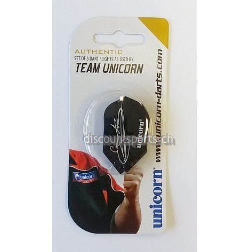 Team Unicorn Authentic Slim Gary Anderson Flys Schwarz