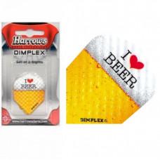 Harrows Dart Flys Dimplex I Love Beer