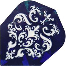 Harrows Hologram Dart Flys Blue Elegance