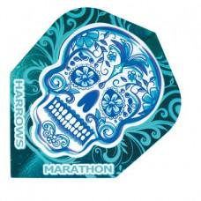 Harrows Dart Flys Flights Marathon Blue Skull