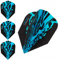 Harrows Rapide X Dart Flights Flys Set Wasserblau