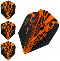 Harrows Rapide X Dart Flights Flys Set Orange