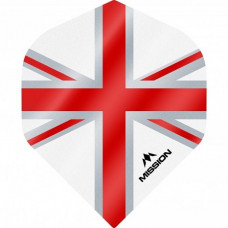 Mission Alliance Union Jack 100 Micron Fly Set Weiss Rot