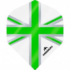 Mission Alliance Union Jack 100 Micron Fly Set Weiss Grün