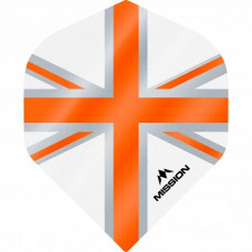 Mission Alliance Union Jack 100 Micron Fly Set Weiss Orange