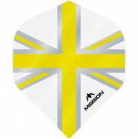 Mission Alliance Union Jack 100 Micron Fly Set Weiss Gelb