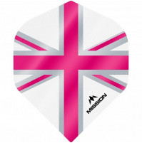 Mission Alliance Union Jack 100 Micron Fly Set Weiss Pink