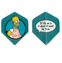 The Simpsons Dart Fly Set Homer Dad