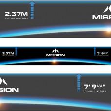 Mission Horizon Selbstklebende Abwurflinie Throwline Oche
