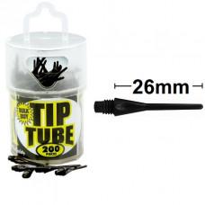 Harrows Dimple Tip Tube Softtip Dartpfeile Spitzen 200er Schwarz