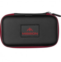 Mission Freedom XL Wallet Dartkoffer Dartetui Schwarz Rot