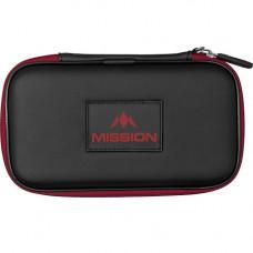 Mission Freedom XL Wallet Dartkoffer Dartetui Schwarz Rot