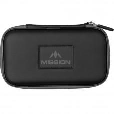 Mission Freedom XL Wallet Dartkoffer Dartetui Schwarz Grau