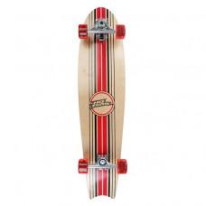 NO FEAR Longboard 102cm Rot Schwarz