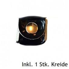 Kreidehalter aus Leder inkl. Kreide Schwarz