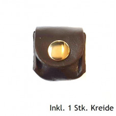 Kreidehalter aus Leder inkl. Kreide Braun