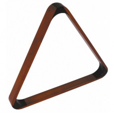 Billard Pool Dreieck aus Holz für 57mm Bälle Kastanienbraun