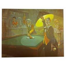 Billard Wandposter Arthur Sarnoff Clowns