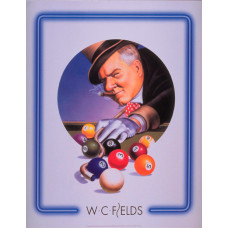 Billard Wandposter W. C. Fields Tophat