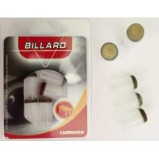 Billardqueue Ersatzspitzen Aufsteckleder Nylon 12.5 mm 5 Stk.