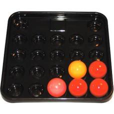 BCE Riley Balltablett 22 Bälle Snooker