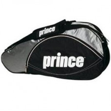 Prince 3er Schlägertasche Schwarz/Silber