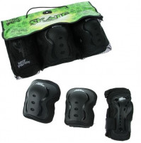 NO FEAR Skater BMX Scooter Trottinett Freestyle Protektoren Set Schwarz Grösse: Medium
