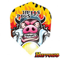 Harrows Dart Flights Flys Quadro Hells Pigs