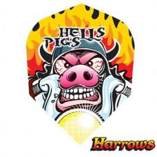 Harrows Dart Flights Flys Quadro Hells Pigs