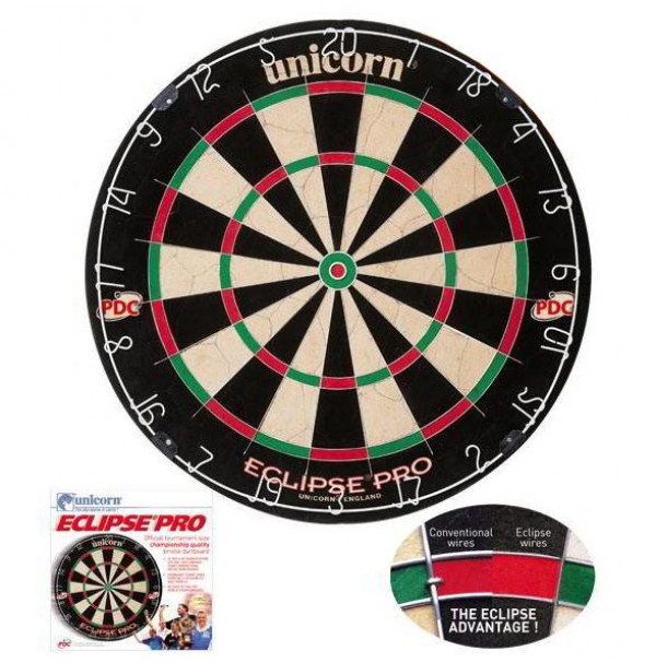 Unicorn Eclipse Pro PDC Bristle Dart Board 79403