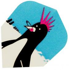 Harrows Dart Flights QUADRO (3) 'Punk Penguin'