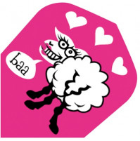 Harrows Dart Flights Quadro Pink Sheep