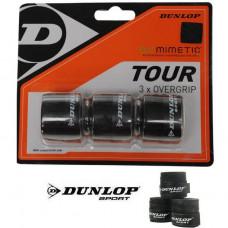 Dunlop Biomimetic Tour Overgrip 3 x Schwarz Griffbänder