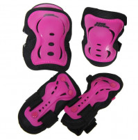 NO FEAR Skater BMX Scooter Trottinett Freestyle Protektoren Set Pink/Schwarz Grösse: Large